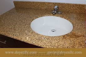 vietnam yellow granite bathroom vanity top wt white oval ceramic sink pre attached