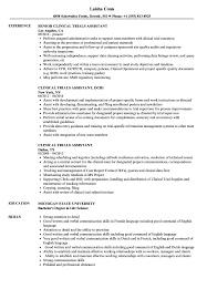 Research Assistant Resume Sample clinical research assistant resumes Ozilalmanoofco 46