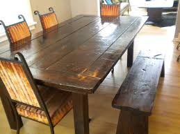 Distressed Wood Dining Room Table  Kukielus - Distressed dining room table and chairs