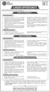 Pec Jobs Latest Jobs In Shifa International Hospital Limited For