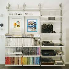 Twin slot shelving from B&q can have peg board option as well as shelves  and a