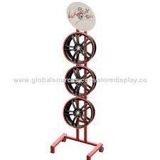 Alloy Wheel Display Stand China Tires metal display stand on Global Sources 22