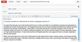 job job format email cover letter