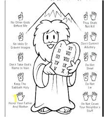 10 Commandments Coloring Page Ten Commandments The Ten Commandments