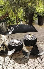 black outdoor furniture. potted pittosporum and butterfly chairs cote sud via linen lavender black outdoor furnitureblack furniture i