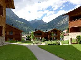 alpinpark in summer garden with mountain view
