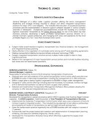 Logistics Resume Summary Examples Senior Logistic Management Resume Logistics Executive In Military 8