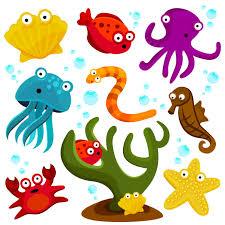 Image result for clip art sea animals