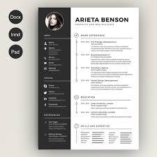 Photoshop Resume Templates 28 Minimal Creative Resume Templates Psd Word Ai  Free Printable