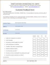 Customer Feedback Form Templates 13 Free Xlsx Docs Pdf
