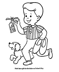 Fathers Day Coloring Pages Boy And Girl Giving Dad A New Tie
