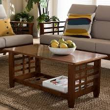 mission style coffee table square