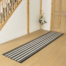 Black Grey Cream Hallway Carpet Runner Striped For Hallway Runners Black  And Grey (#3