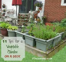 Small Picture 11 Tips for Growing a Vegetable Garden on a Deck The Gardening Cook