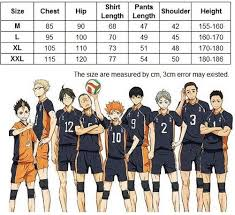 Haikyuu Height Chart Haikyuu High School Team Volleyball Kit Sold By L Email Wig