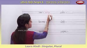 Learn Hindi Singular And Plural Words Ekvachan Bahuvachan In Hindi Hindi Writing Practice
