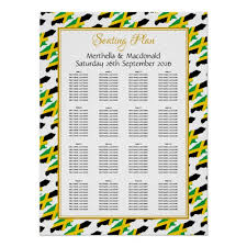 Poster Seating Charts For Wedding Receptions Jamaica Custom Wedding Reception 160 Seating Plan Poster
