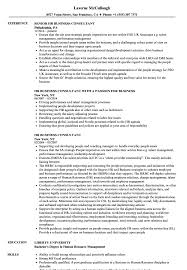 Sample Experienced Hr Professional Consultant Resume HR Business Consultant Resume Samples Velvet Jobs 9