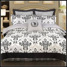 black and white fleur de lis bedding bedroom home design ideas