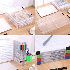 desk office file document paper. storage box a4 file clear plastic document cases desk paper organizers holders office f