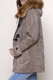 retro style single ted hooded fur collar solid color coat for men