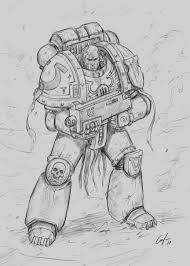 How To Draw A Space Marine Step By Step Tutorial