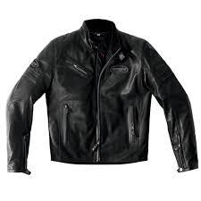 spidi ace retro classic leather cafe race motorcycle jacket black