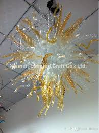 new design art glass chandelier amber color 100 hand blown glass chandelier lighting high hanging lamps for lounges moroccan pendant lamp ceiling lights