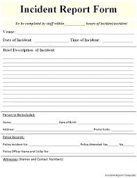Critical Incident Review Template Report Form New Free Templates For
