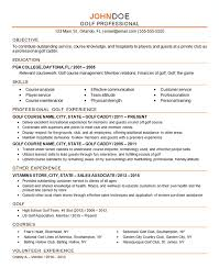 Examples Of Professional Resume Beauteous Golf Professional Resume Example Caddy Instructor