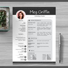Resume In Powerpoint Teacher Resume Template Cover Letter References Black Powerpoint Editable