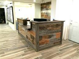 reclaimed wood reception desk reclaimed wood reception desk wooden reception desk hand made custom barn wood reclaimed wood reception desk