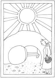 Kinderwoorddienst Kleurplaat Paasmorgen