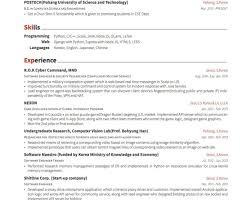 98 Resume Header Good Resumer Example