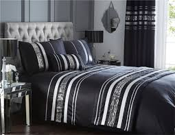 super king quilt duvet cover 2 pillowcase bedding bed set white black and silver bedding sets
