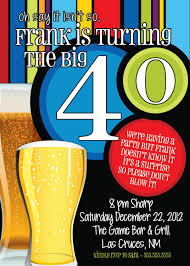 beer men th birthday party invitation wording ideas cute 40th birthday invitation wording for men