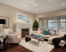beige living room. Trendy Brown Floor Living Room Photo In Vancouver With Beige Walls And A Standard Fireplace L