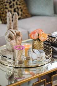 Decorating With Trays On Coffee Tables Spring Coffee Table Decor See How They Did It 23