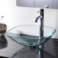 bathroom sink awesome bathroom glass bowl modern sinks with dark granite top also recessed cine