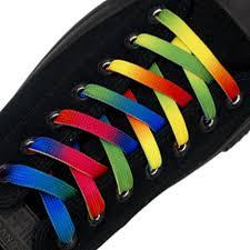 Shoelace Width Chart Rainbow Shoelace Flat Length 140cm Width 1cm