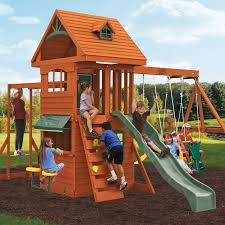 E Street AssemblyBig BackyardCedar Summit BuiltBig Backyard Ashberry Wood Swing Set