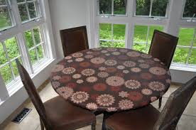 Round Plastic Table Covers With Elastic Best Deals On Round Fitted Vinyl Tablecloth Superofferscom