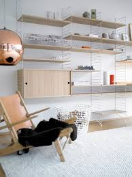 wire shelving wood shelves kitchen