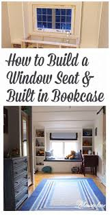 diy how to build a window seat and built in bookcases tucker s room lehman lane