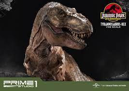 Jurassic Park Tyrannosaurus Rex Prime1 1:38 Scale PVC Statue – bunker158.com