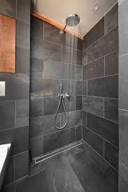 Badezimmer Design Schwarz Schiefer Dusche Schöne