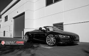 black audi r8 convertible. black audi r8 gt with custom led headlights photo by vossen convertible