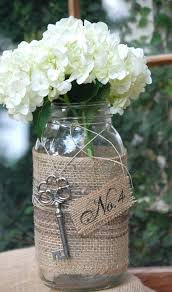 Decorated Jars For Weddings Wedding Centerpieces With Mason Jars Burlap Centerpieces For 71