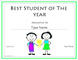 Student Of The Month Certificate Templates Student Of The Month Template Naomijorge Co