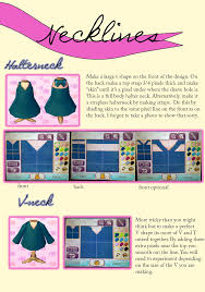 Fun Designing Clothes Games Acnl Design Guide Necklines Animal Crossing Animal